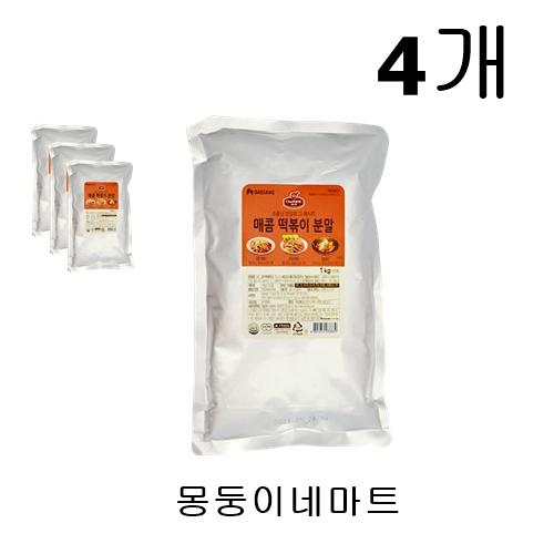 [몽둥이네마트] 대상 쉐프원 매콤 떡볶이 분말 대용량 1kg 맛집 레시피 그대로 정말 맛있는 그 맛 그대로 집에서 나도 먹을 수 있다! 소스, 4개