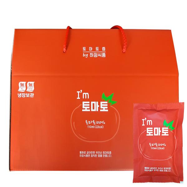 빛고을장터 통째 갈아만든 토마토즙 110ml 30포 50포 하정식품, 1box, 1.국내산 토마토즙 110ml x 30포