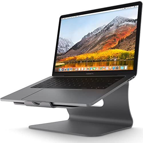 무선마우스 Laptop Stand - Bestand Aluminum Cooling MacBook Stand Update Version Stand Holder for Apple MacBook Air MacBook Pro All Notebooks Sliver Pa, 본문참고, Color = 102S Grey