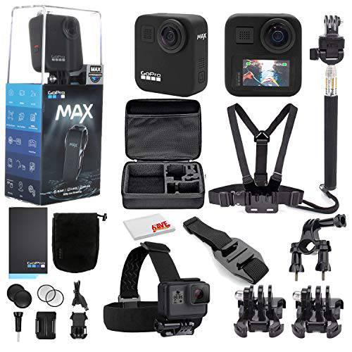 고프로 MAX 360 방수 액션 카메라 - 카메라 W/ 터치 스크린 - 구의 5.6K30 H, 상세내용참조