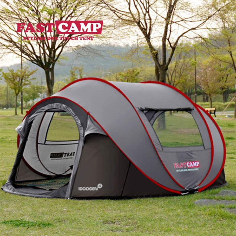 FASTCAMP 캐노피 가족 간단한 원터치 야외 자동 멀티 방수 텐트, 【홈 에디션】 회색