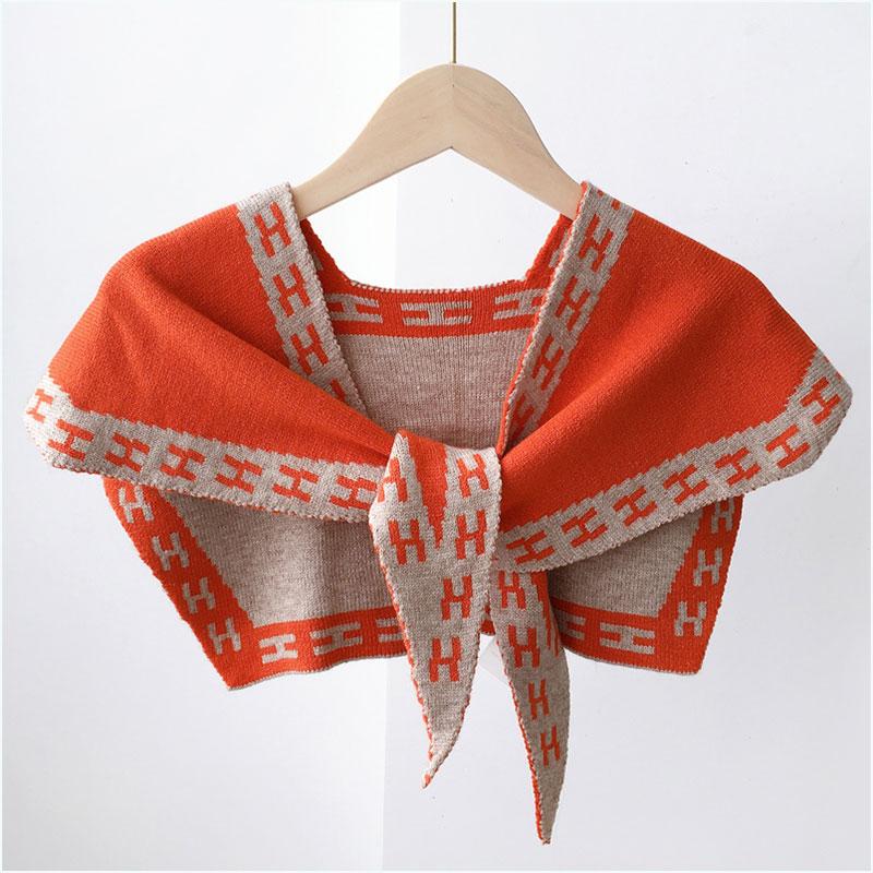 어깨숄 단색 니트 숄 밖에걸쳐입는스타일 온실 모조카라 코디하기쉬운 어깨걸치는 스카프 겸용 목경추 가을