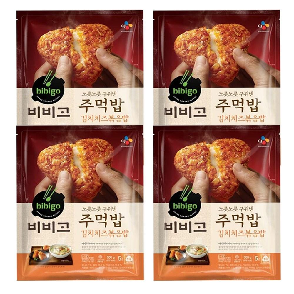 (냉동)비비고 구워낸주먹밥김치치즈500gx4개, 1세트