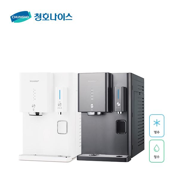 청호나이스 이과수 냉정수기 OMNI UV CHP-2361D, 티탄 (POP 5733822106)