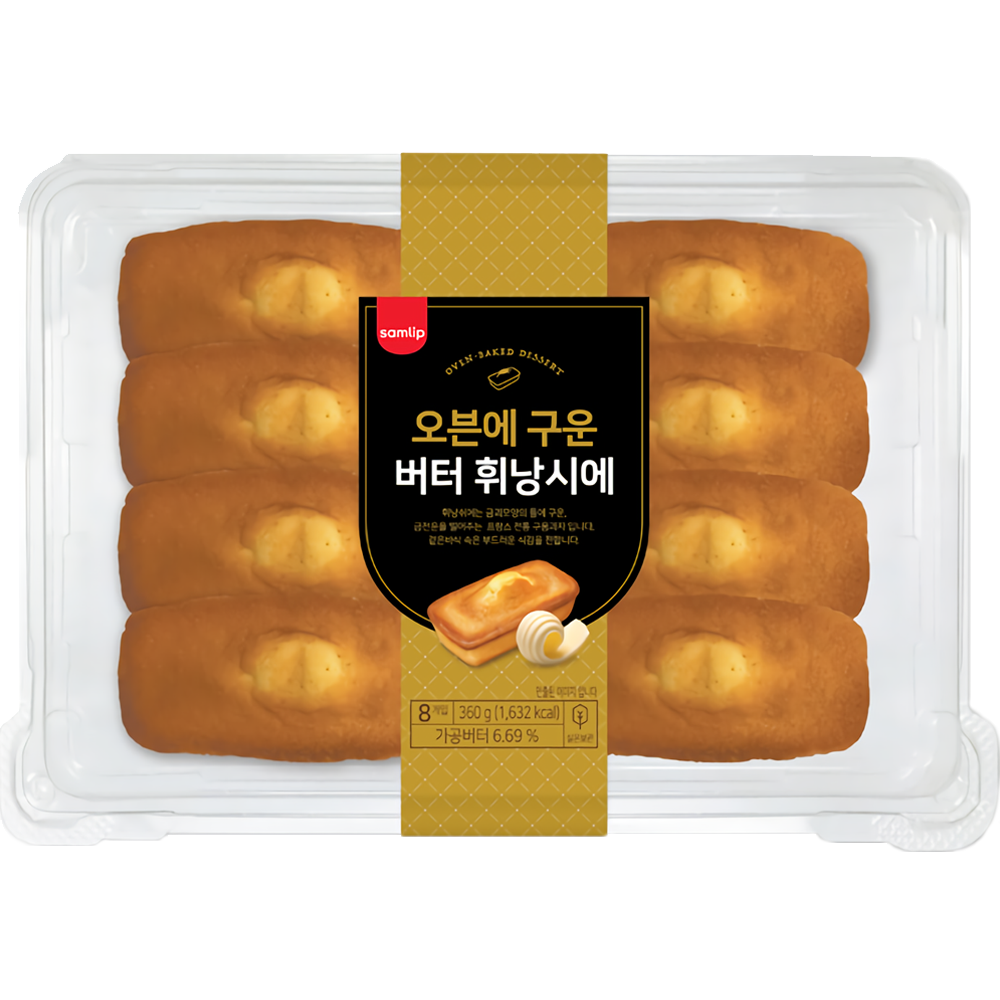 삼립 오븐에 구운 버터 휘낭시에 36g 8개 (1팩) 삼립빵, 1팩