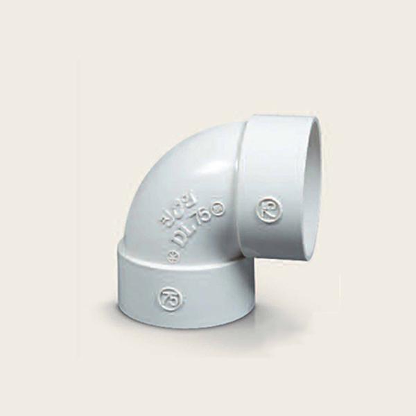 PVC VG2 90도 엘보/단곡관 100A 배수용 소켓 파이프, 단일상품
