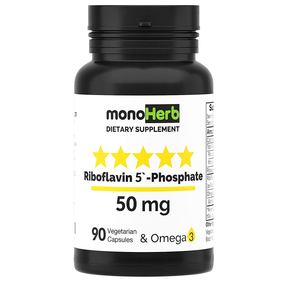 MONOHERB 모노허브 리보플라빈 5 인산염 영양제 50mg 90정 1병