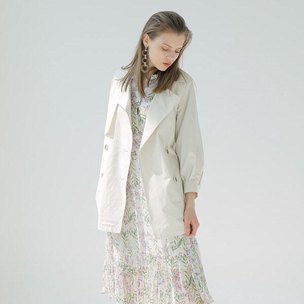 [온앤온] 볼륨 숏 트렌치 코트 NW9MR7040