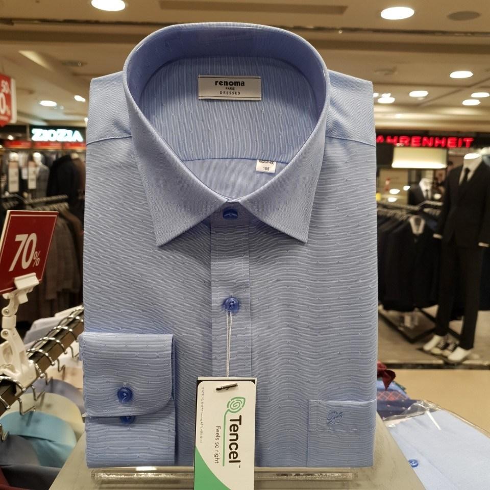 레노마 셔츠 텐셀 (모달) 블루 도트 도비 구김없는 일반핏 셔츠RJSSGP930BU1