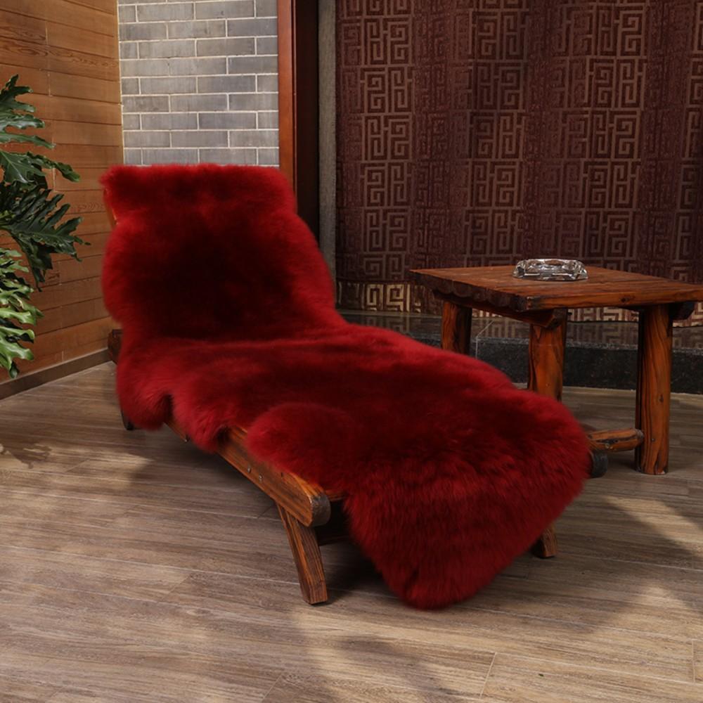 안마의자 리클라이너 울 커버 러그 카펫 시트 담요 쿠션 고급 인테리어, 와인/M/L (POP 5295627795)