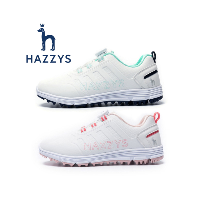 헤지스 골프화 - 헤지스골프 정품 2020 HZSH2000-004L 프리락 스파이크리스 여성용 골프화 민트 핑크