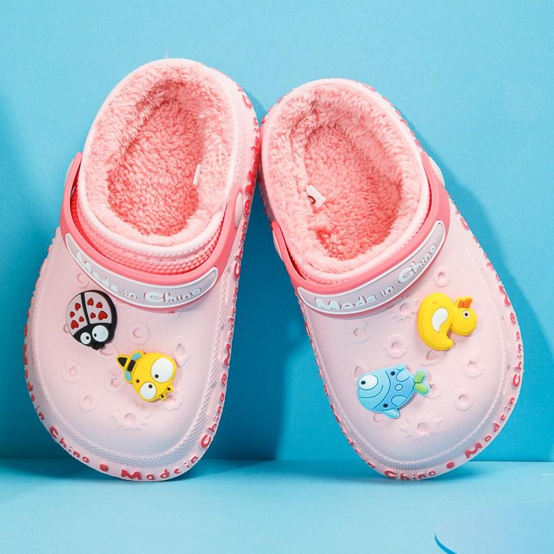 키즈 슬리퍼 신발 가벼운 털신 귀여운 가을 겨울 아동 실내화 WG201107662Z