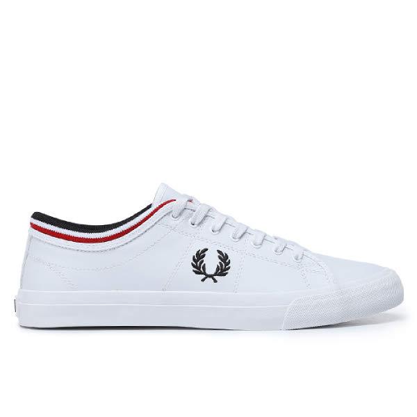 [현대백화점]프레드페리 신발 남녀공용 스니커즈 SFPU1936166-134 Kendrick Tipped Cuff Leather 켄드릭 팁