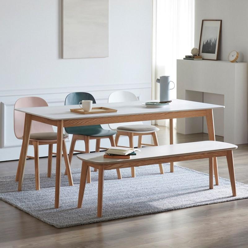 라움 퓨어 올화이트 세라믹 테이블 4인식탁 6인식탁 벤치 의자 식탁, 엔젤체어일반(아이보리)