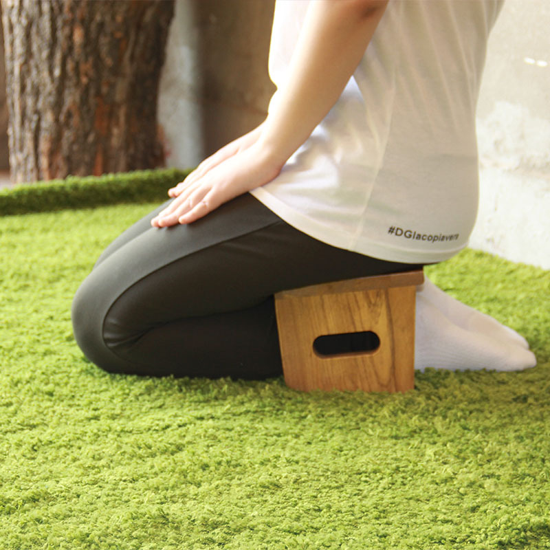 기도 걸상 좌식 손연재 커블체어 체형고정 의자, 단일