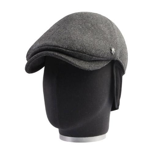 MQUM 겨울 따뜻한 방한 폴라폴리스 귀달이 울 윈저헌팅캡 귀덮개 모자튜브 케이스포장 헌팅캡, 그레이