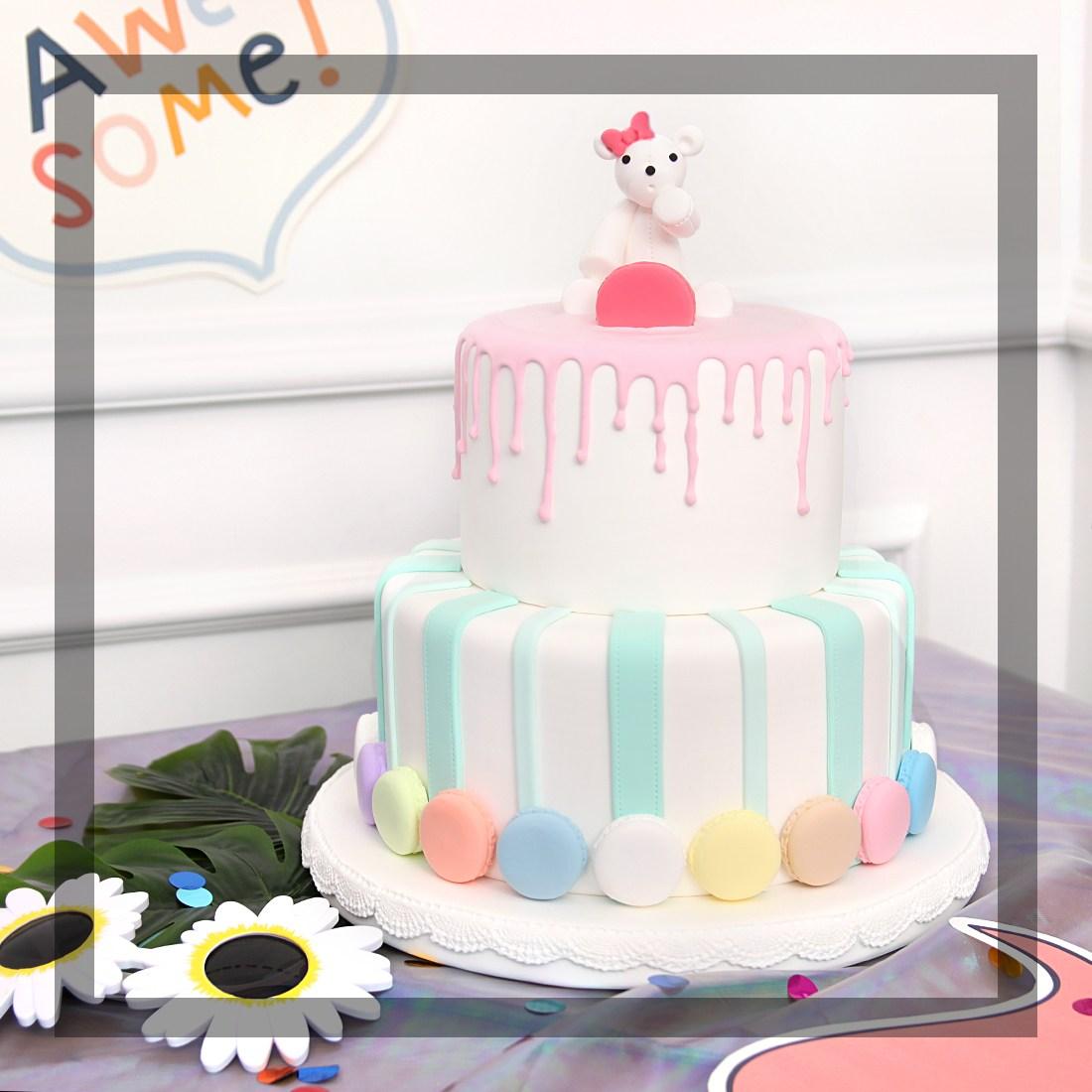 마카롱 모형케이크 클레이 어린이집생일케이크, P1클레이케익(마카롱)