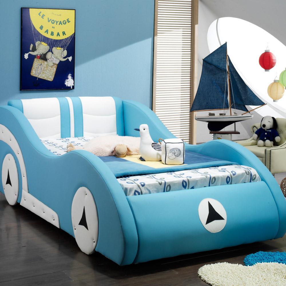 웰퍼니쳐 띠띠빵빵 수면독립 자동차침대SS 슈퍼싱글(매트리스선택), 블루