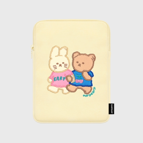 어프어프(earpearp) Nini friends-ivory-ipad pouch(아이패드 파우치)