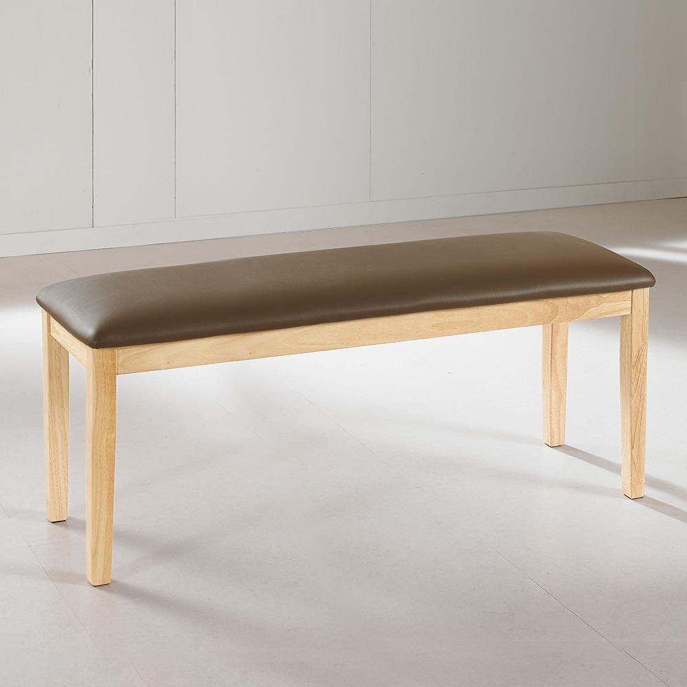 라로퍼니처 루아 원목 3인용 방석 벤치 의자 식탁벤치 실내벤치, 단품