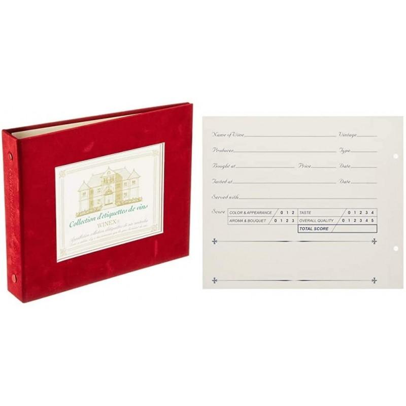 WINEX 레이블 메모리 바인더 버건디 ZW900RE & 와인 라벨 레코더 (12 매입) ZW500NS 【세트 구매], 1, 단일상품