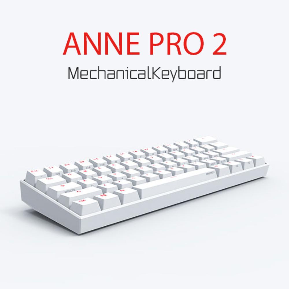 앤프로2 ANNE PRO 2 무선 기계식 키보드 루프 annepro2 게이트론 카일 체리, 그린 샤프트 화이트 (체리 샤프트 본체), 공식 표준