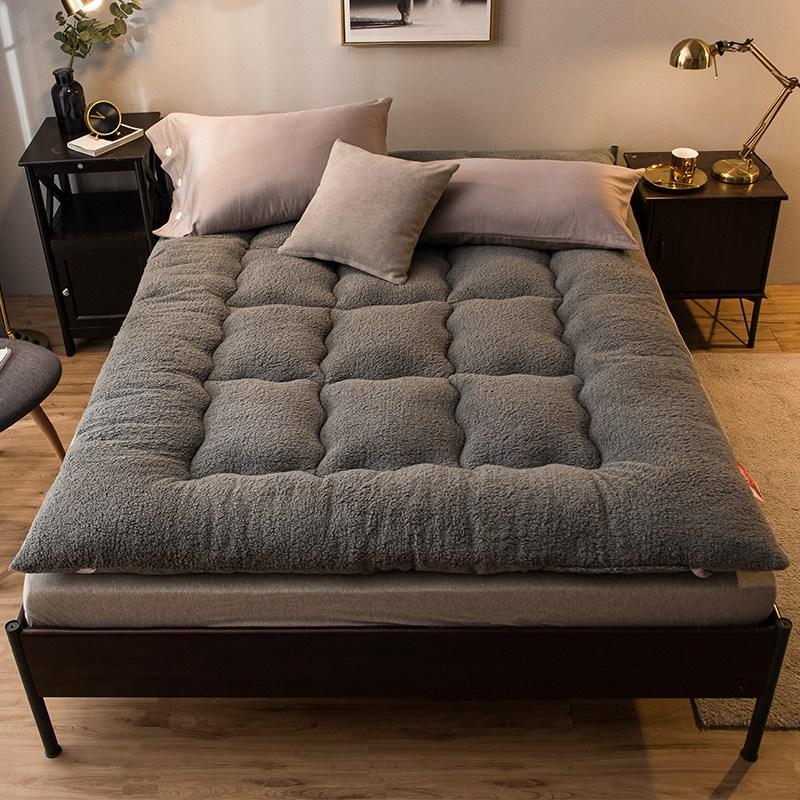 두꺼운 양털 겨울 침대 매트 웜매트 자가발열 토퍼, 150x200cm