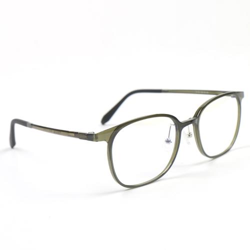 멜라크메 사각 스퀘어 울템 편안한 뿔테 카키 안경테