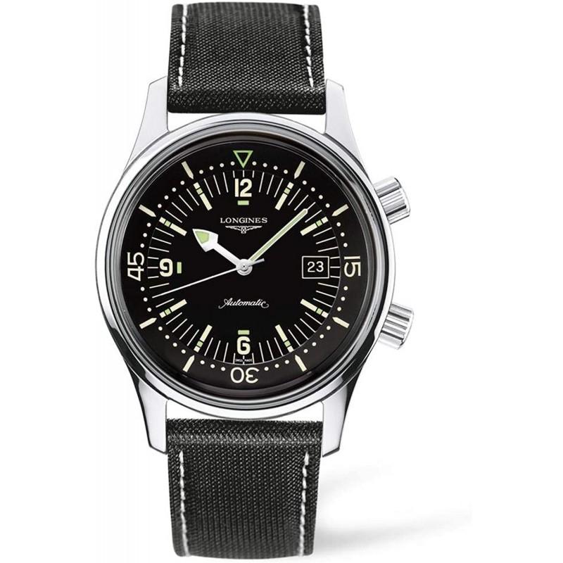 [론진 남성시계] [론진]손목 시계 론진 레전드 다이버 자동 내둘러L3.674.4.50.0남성 정규 수입품 블랙