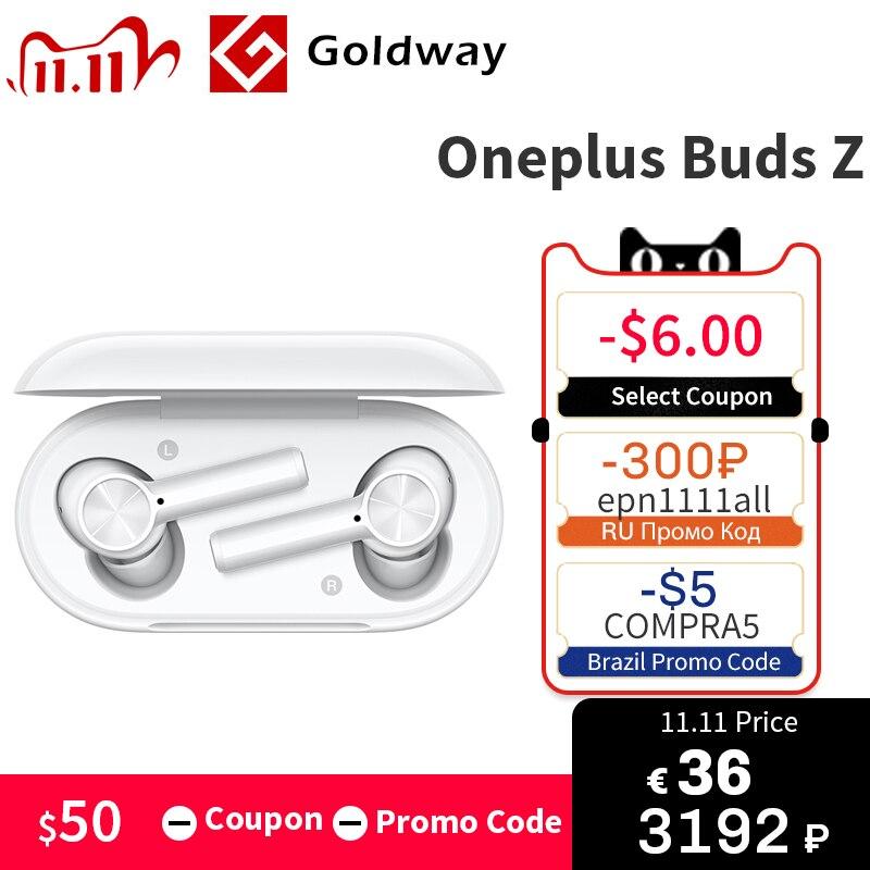 새로운 OnePlus Buds Z TWS 이어폰 무선 이어폰 IP55 방수 이어 버드 블루투스 5.0 Oneplus 8T 8 Pro Nord|블루투스 이어폰 & 헤드폰|, 1개, Grey N Anti rope, 단일