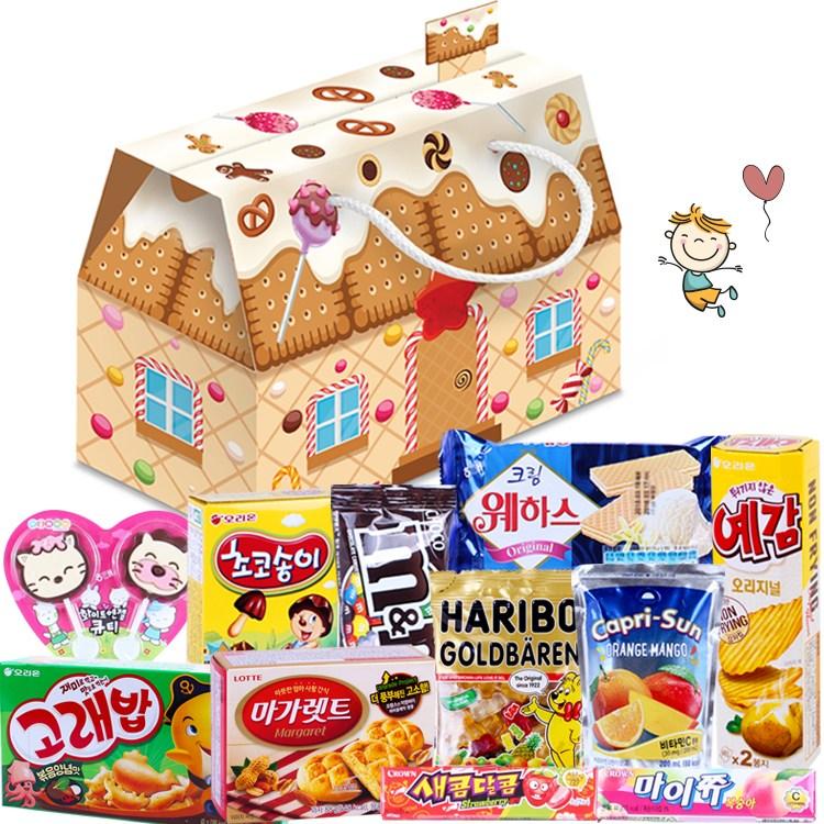간식팩토리 과자 음료 어린이날 선물세트 11종 과자집, 1개