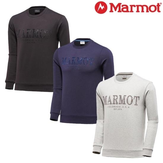 마모트 마모트 공용 로건 맨투맨 티셔츠-1MMTSW8902