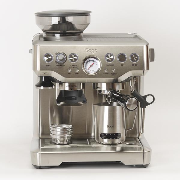 커피머신 Breville BES870XL반자동 에스프레소 일체형 콩을갈기 꽃장식 Sage BES875, T01-Sage BES875은색