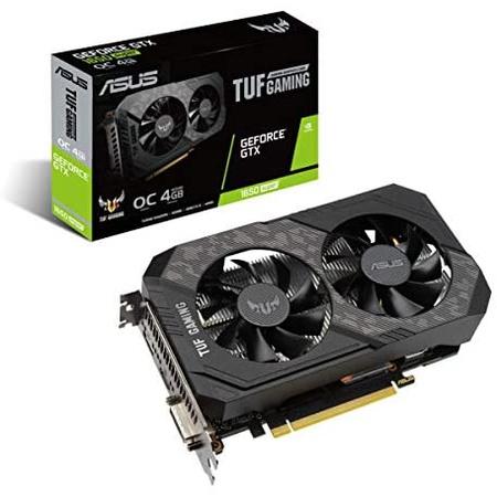 Asus TUF 게이밍 GeForce GTX 1650 슈퍼드라이브 Overclocked 4GB 에디션 HDMI DP DVI 게이밍 그래픽 카드, 상세 설명 참조0