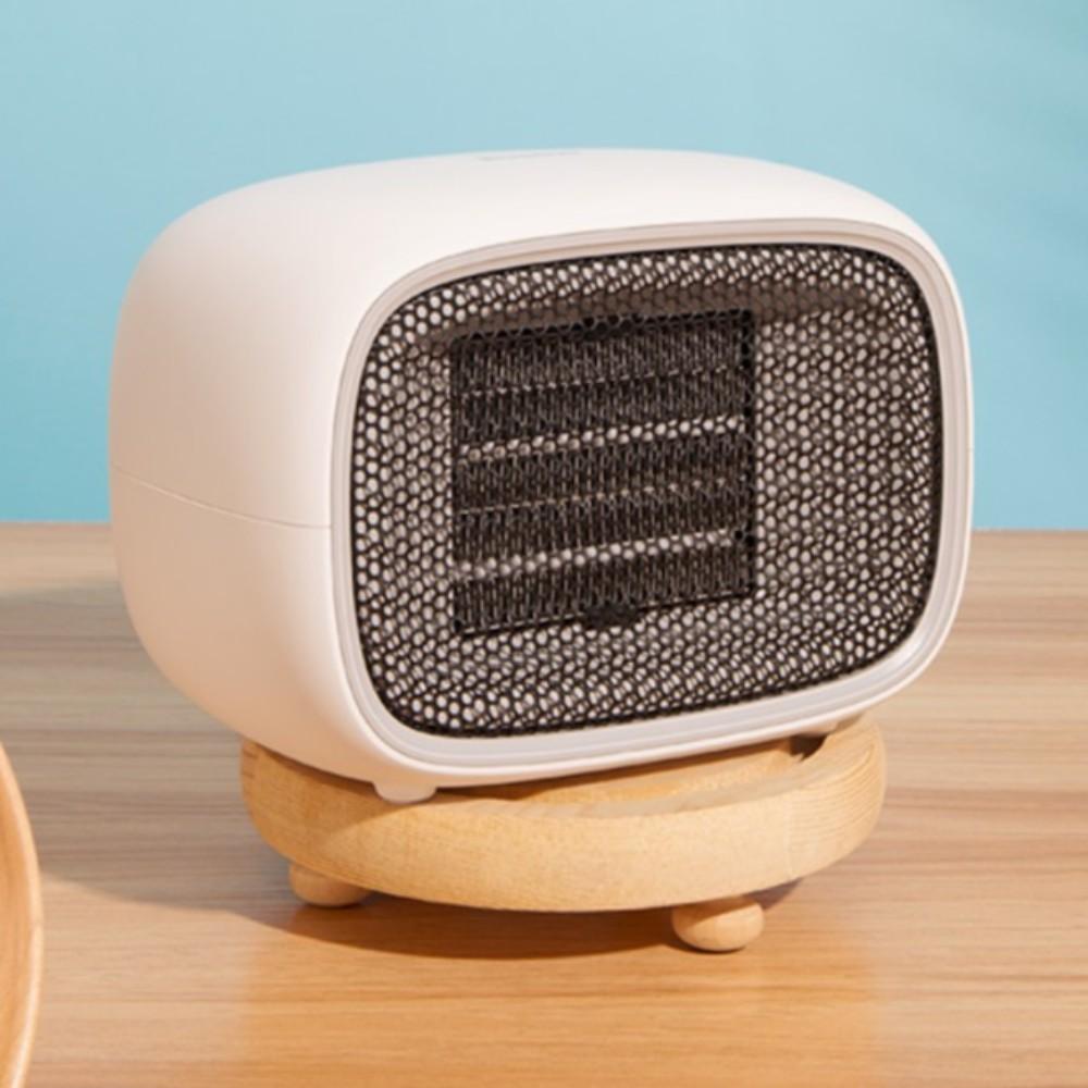 마카롱 온풍기 겨울 캠핑 난방 저전력 히터 야외 휴대용 미니 사무실 가정용, 화이트 (돼지코 증정)