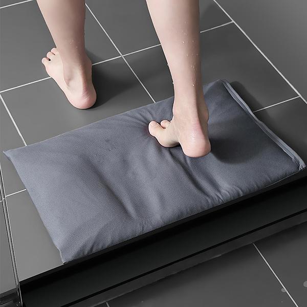 엠엔피라이프 추가커버증정 푹신한 욕실 화장실 매트 빨아쓰는 규조토 발매트, 진그레이
