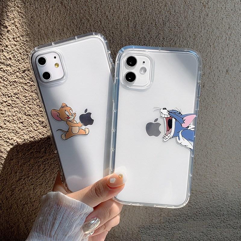 아이폰 SE2 캐릭터 투명 커플 케이스
