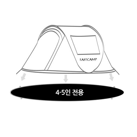 패스트캠프 아이두젠 그라운드시트 4-5인용 B