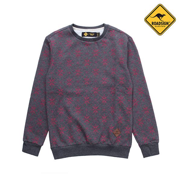 로드사인 [로드사인] P 유니 눈꽃 맨투맨 티셔츠-RDTX725A_WN