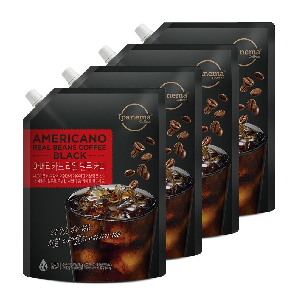 [자연이안] 스페셜티 커피 아메리카노 1.5L 4팩, 단품-8-4393601713