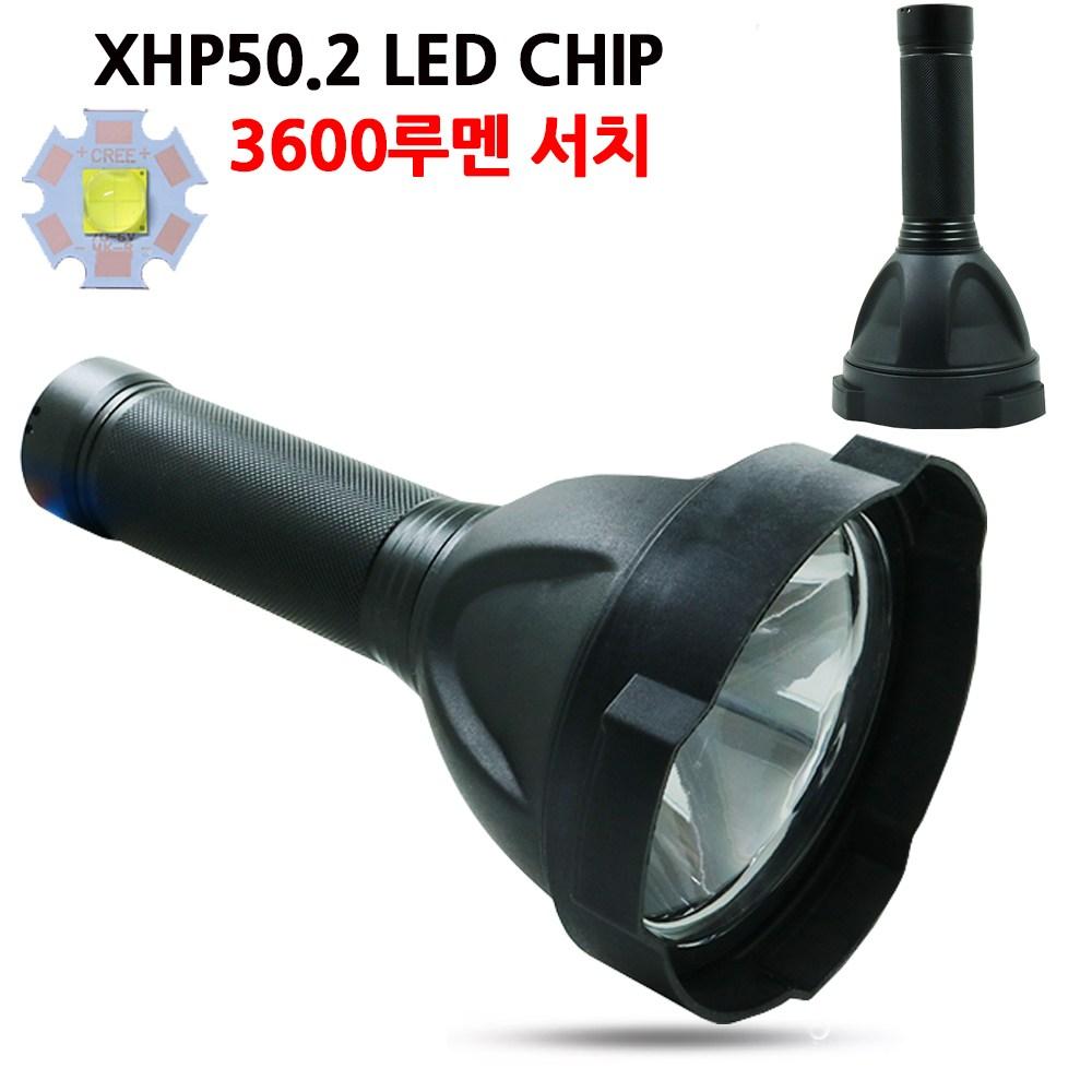 강력한직진성 LED 충전식 후레쉬 손전등 서치라이트 랜턴 작업등 DW572, 1개