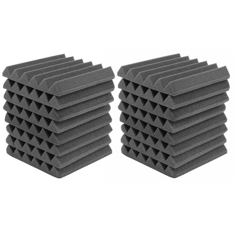 INSMA 305 x 45mm 8pcs 24pcs 방음벽지 흡음 스펀지 방음스펀지 방음재, 24개입, 블랙