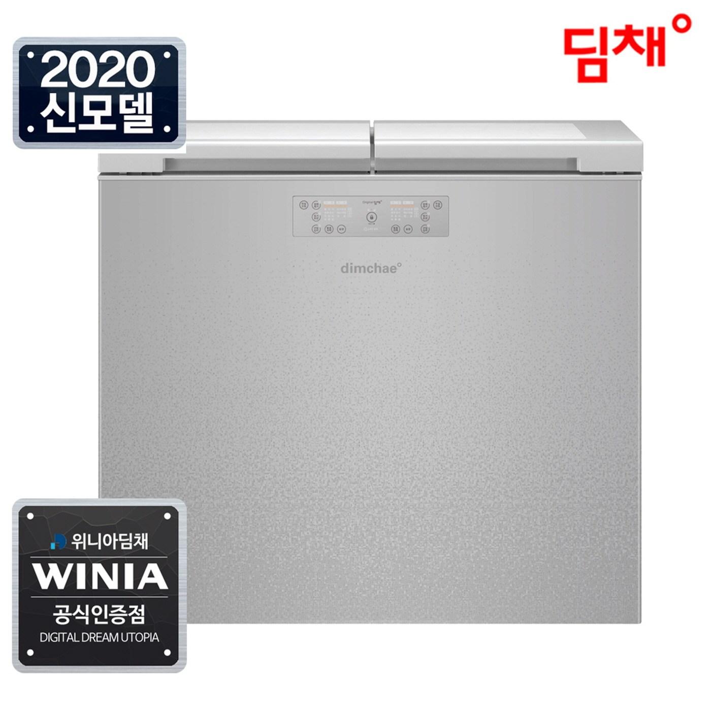 위니아 20년형 1등급 딤채 뚜껑형 김치냉장고 EDL22CFWXS 221리터
