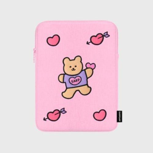 [텐바이텐] Bear heart-pink-ipad pouch(아이패드 파우치)_(1578602), FREE