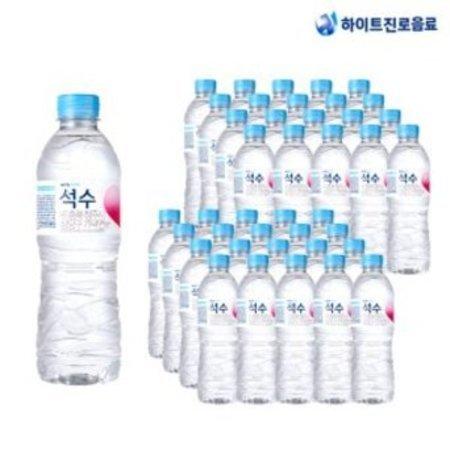 [멸치쇼핑]하이트진로 음료 석수 500ml 40병박스포장, 40개