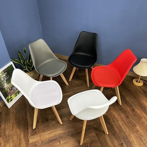 편안한 디자인 쉼 The New 에펠 의자 고급형 5컬러 화이트 카멜레온화이트 레드 그레이 블랙 인테리어 카페