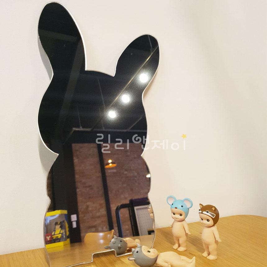 릴리앤제이 욕실 아크릴 거울 어린이 유아 화장실 벽 안전거울 카페 디자인 인테리어, 7.배둥이 토끼