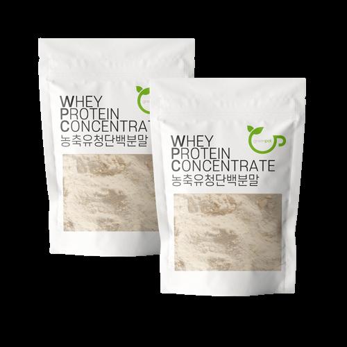 그린팟 WPC 농축유청단백질분말 미국산 프로틴 1kg (500g 2개), 1+1