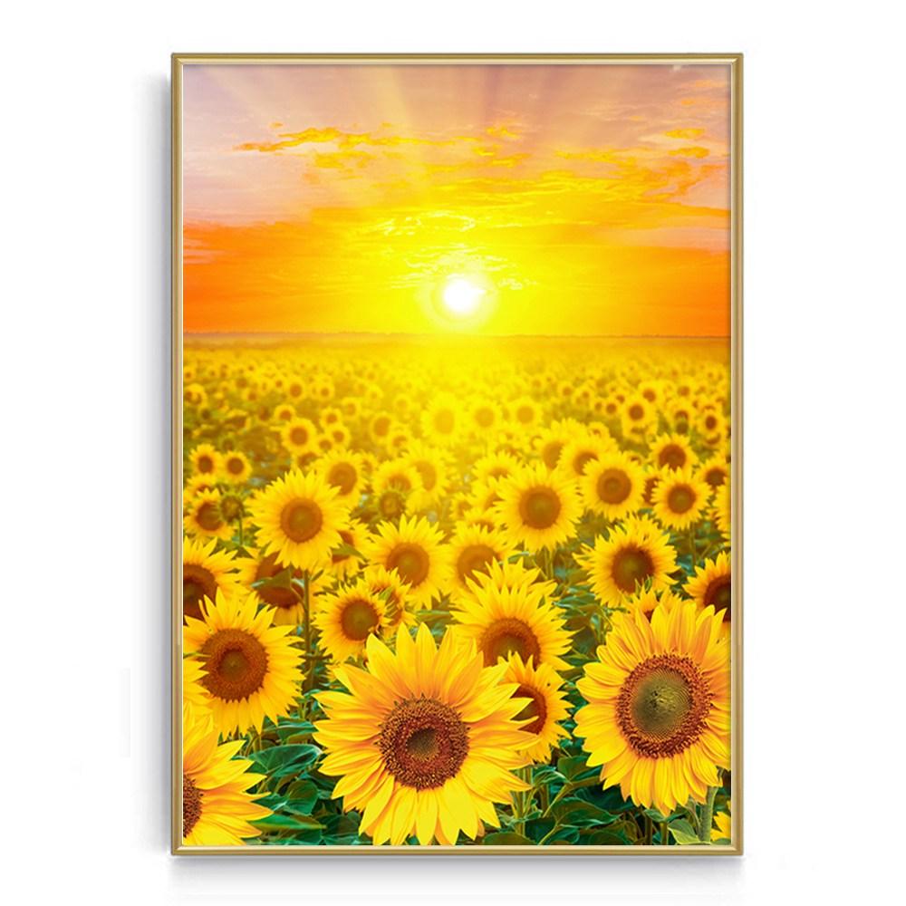 숑숑몰마켓 [소형사이즈][A4사이즈]해바라기액자모음전 소형 풍수지리(상세설명확인필수) 액자, 포스터+황금프레임