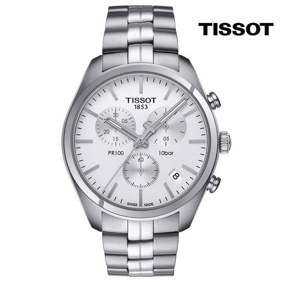 티쏘 PR100 쿼츠 크로노 T101.417.11.031.00 41mm 메탈시계